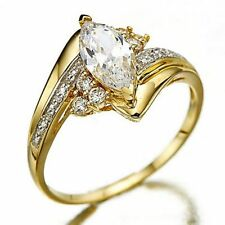 Trendy Jewelry Size 9 White Sapphire Engagement 10KT Gold Filled Ring For Woman