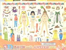 NEW Vintage Sailor Moon AMAZONESS QUARTET JunJun Saturn Decal Doll Stickers Wand
