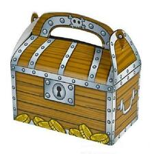 24 TREASURE CHEST TREAT BOXES Pirate Birthday Loot Goody Bag #SR2 FREE SHIPPING
