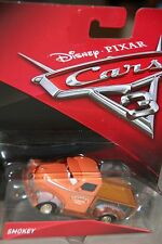 "DISNEY PIXAR CARS 3 ""SMOKEY"" NEW IN PACKAGE, SHIP WORLDWIDE"