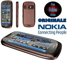 "Nokia c7-00 8gb marrone (senza SIM-lock) Smartphone WLAN 8mp 4 volume 3,7"" GPS NUOVO OVP"