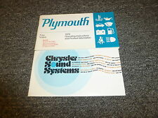 1978 Plymouth Fury Wagon Sedan Coupe Owner Owner's Manual Set