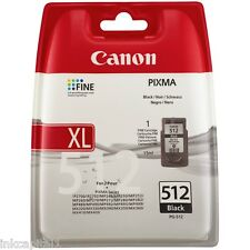 1 x Canon Original OEM PG-512, PG512 Black Inkjet Cartridge For MP495