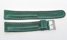 Breitling, original green leather strap 20mm (18mm steel buckle)