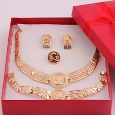 Beauty Design 18K Gold Plated Necklace Earring Bracelet Ring African Jewelry Set
