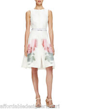 Carolina Herrera Ivory Tea Dress with Floral Design, Retail $2990