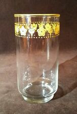 """Libbey Pyrex Corelle Gold Butterfly Drinking Glass Tumbler 5 1/2"""""""