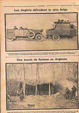 Tommies British Army Armored car Bataille de l'Yser/Ecurie en Argonne WWI 1915