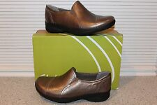 Clarks In-Motion Tumble Leather Moc Slip On Shoe  7W Pewter