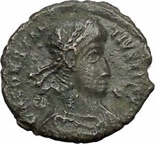 CONSTANTIUS II Constantine the Great son w power symbol 355AD Roman Coin i56190