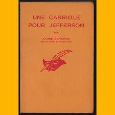 Le Masque N° 810 UNE CARRIOLE POUR JEFFERSON  André Benzimra 1963