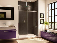 "FLEURCO 60"" X 75"" H NOVARA IN LINE 3/8"" GLASS FRAMELESS SLIDING SHOWER DOOR"