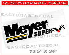 MEYER SUPER-V2 Snow Plow replacement Decal 1 Pc Clear Front Blade oem type Decal