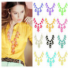 New Women Bubble Bib Statement Fashion Chain Necklace Choose From 12 Colors HOT