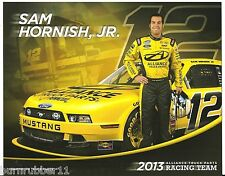 "2013 SAM HORNISH JR ""ALLIANCE TRUCK PARTS #12"" NASCAR NATIONWIDE POSTCARD"