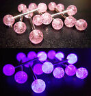 Titanium OR Surgical Steel Tongue Bar with UV Acrylic Balls - Pink Glitter