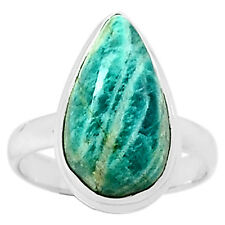 Russian Amazonite 925 Sterling Silver Ring Jewelry s.9 6464R