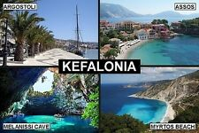 SOUVENIR FRIDGE MAGNET of KEFALONIA GREECE