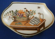 18thC Porcelain Scenic Snuff Patch Box Scene Porzellan Dose Tabatiere Germany