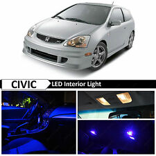 7x Blue LED Lights Interior Package Kit for 2001-2005 Honda Civic SI EP3 + TOOL