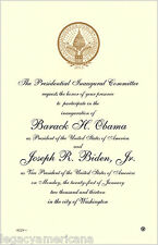 2013 Obama Biden Official Inauguration Invitation (4912)
