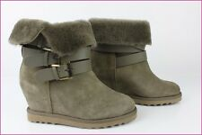 Bottines Boots ASH Cuir et Mouton Taupe Modèle YES FR 40 / USA 9,5 NEUVES