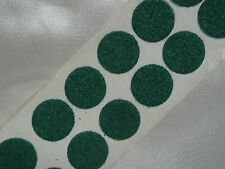 10 - 20mm  GREEN FELT BAIZE round DISCS self adhesive - protect, craft, cover