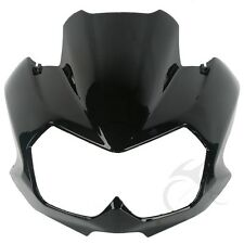Vivid Black Upper Front Fairing Cockpit Mask For Kawasaki Z750N 2004-2006 2005