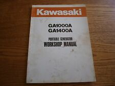 Kawasaki Portable Generator Workshop Manual GD1000A, GA1400A P/N: 99924-2012