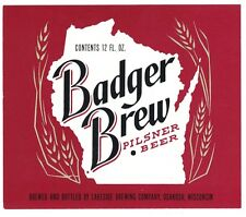 Badger Brew Beer Label