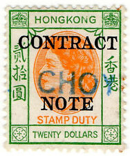 (I.B) Hong Kong Revenue : Contract Note $20 (1954)