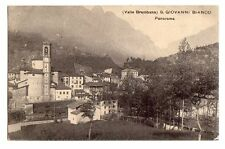 C003302   VALLE   BREMBANA  SAN  GIOVANNI   BIANCO  PANORAMA      VG  1910