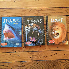 Lot of 3 Natural Killers Predators Close Up series DVD Tigers Lions Sharks bx36