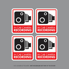 SKU2300/32 - Set Of 4 In Car Camera Recording Car Sign Sticker - CCTV - Dashcam