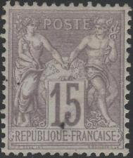 """FRANCE STAMP TIMBRE N° 77 """" TYPE SAGE 15c GRIS TYPE II """" NEUF xx TB  A VOIR J870"""