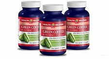GREEN COFFEE EXTRACT CLEANSE Weight Loss Pills Fat Burner For Men 3 Bottles