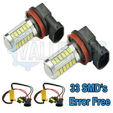 Audi A1 10-on Bright LED Front Fog Light H11 31w 33 SMD lens White Bulbs