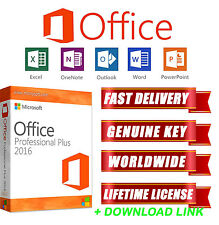 Genuine office pro plus 2016 word excel access outlook professionnel logiciel pc uk