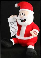 Animated Giggling Santa 29cm Xmas Decoration Christmas Display Novelty Toy