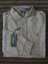 POLO Ralph Lauren NWT Mens Polo Shirt Long Sleeves Classic-Fit Cotton Mesh Large