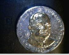 1984 Harry S Truman Coin, Gold/Silver Plated, High Grade  (US-4162)