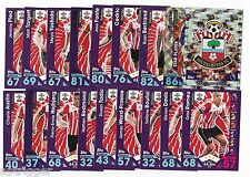 2016 / 2017 EPL Match Attax SOUTHAMPTON Base Team Set (23 Cards)