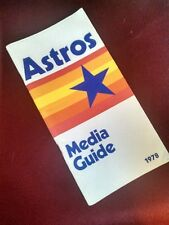 Vintage Media Book Press Guide Roster Radio Houston Astros 1978 MLB Baseball