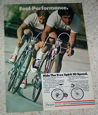 1975 ad page - Sears Free Spirit 10-speed Bikes bicycles OLD PRINT ADVERTISING