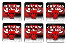 "CHICAGO BULLS COASTERS 1/4"" BAR & BEER SET OF 6"