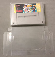5x Super Nintendo SNES Game Cart/Cartridge Protectors STRONG 0.4mm PET Plastic