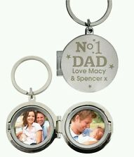Personalised Engraved No. 1 Dad Photo Keyring Father's Day Gift For Him Daddy
