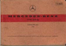Mercedes Benz 220 Sb Saloon 1963 Original Multilingual Spare Parts List