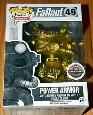 NEW~FUNKO POP~ GOLD POWER ARMOR ~Fallout~ Game Stop Black Friday EXCLUSIVE CHASE
