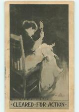 Mom Spanks Baby with Shoe Humor Corporal Punishment 1906 Postcard 23627